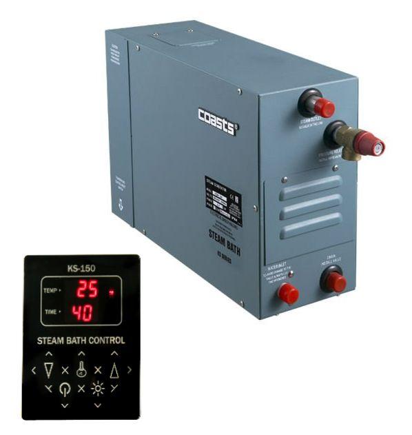Parní generátor, vyvíječ páry pro saunu KSA-180 s ovládacím panelem KS-150, 380V